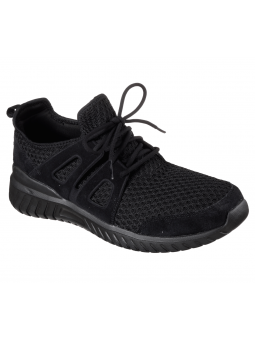 Deportivo Skechers Sport Rought Cut modelo 52822 BBK lateral exterior