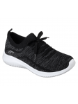 Deportivo Skechers Ultra Flex modelo 12841 color BKGY lateral exterior