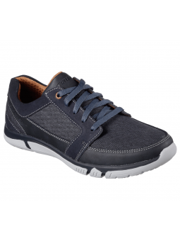 Deportivo casual skechers relaxed fit, moddelo 65511, color NVY
