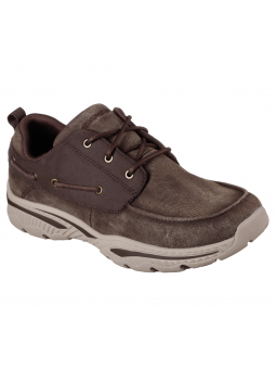 Nautico Skechers Relaxed Fit modelo 65347 CHOC lateral exterior
