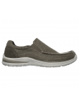Skechers Relaxed Fit modelo 65195 color KHK lateral exterior