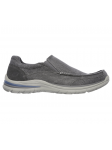 Skechers Relaxed Fit modelo 65195 color CHAR lateral exterior