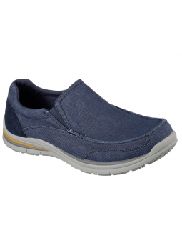 Mocasín Skechers Relaxed Fit modelo 65195 color NVY
