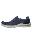 Mocasín Skechers Relaxed Fit modelo 65195 color NVY lateral interior