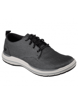 Zapato casual Skechers 65388 Classic Fit color BLK lateral exterior