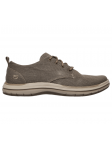 Zapato casual Skechers 65388 Classic Fit color BRN lateral exterior
