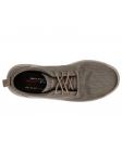 Zapato casual Skechers 65388 Classic Fit color BRN vista aerea