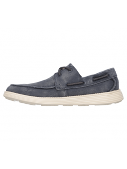 Náutico Skechers 64644 Relaxed Fit color NVY lateral interior