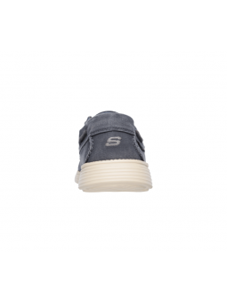Náutico Skechers 64644 Relaxed Fit color NVY talón