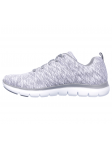 Deportivo Skechers Flex Appeal 2.0 modelo 12908 color GYW lateral exterior