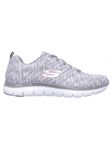 Deportivo Skechers Flex Appeal 2.0 modelo 12908 color GYW lateral interior