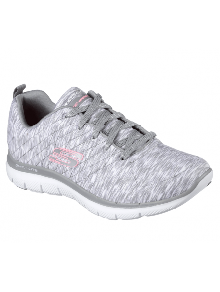 Deportivo Skechers Flex Appeal 2.0 modelo 12908 color GYW