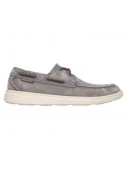 Náutico Skechers relaxed Fit modelo 64644 color CHAR lateral exterior