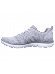 Deportivo Skechers Flex Appeal 2.0 modelo 12756 color WGY lateral interior