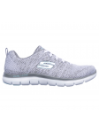 Deportivo Skechers Flex Appeal 2.0 modelo 12756 color WGY lateral exterior