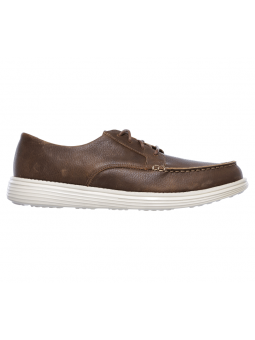 Náutico Skechers Relaxed Fit modelo 65504 color BRN lateral exterior