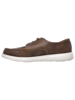 Náutico Skechers Relaxed Fit modelo 65504 color BRN lateral interior