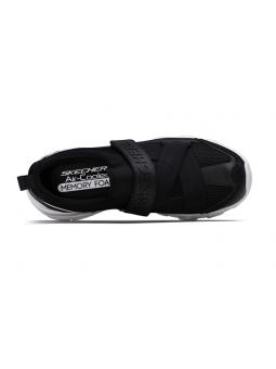 Deportivo Skechers D'Lite con velcro modelo 88888016 color BLK vista aerea