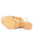 Sandalia con plataforma y tacón LINCE by GIANNI ZENNA modelo 81105 color cuero, vista de la suela
