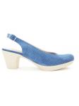 Zapato de salón LINCE by GIANNI ZENNA modelo 83715 color Jeans, vista lateral