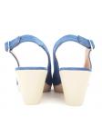 Zapato de salón LINCE by GIANNI ZENNA modelo 83715 color Jeans, vista del talón