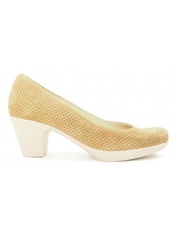 Zapato de salón LINCE by GIANNI ZENNA modelo 83711 color camel, vista lateral