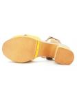 Sandalia LINCE by GIANNI ZENNA modelo 81106 color mostaza-cuero, vista de la suela