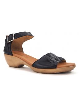 Sandalia con cuña SERGIOTTI modelo N6-566 color Negro