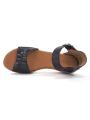 Sandalia con cuña SERGIOTTI modelo N6-566 color Negro, vista aérea