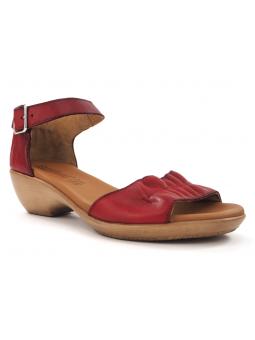 Sandalia cuña baja SERGIOTTI modelo N6-566 color rojo