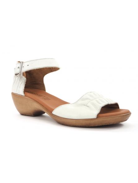 Sandalia con cuña baja SERGIOTTI modelo N6-566 color blanco