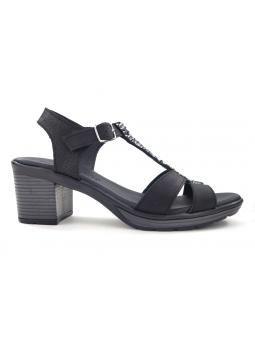 Sandalia de vestir SERGIOTTI modelo 46-8372 color NEGRO, vista lateral exterior