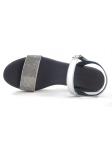Sandalia para vestir SERGIOTTI modelo 46-8205 color PLATA, vista aérea