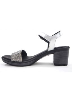 Sandalia para vestir SERGIOTTI modelo 46-8205 color PLATA, vista lateral interior