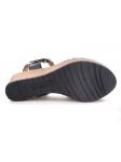 Sandalia SERGIOTTI modelo 33-165 color negro, vista de la suela