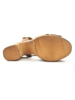 Sandalia LINCE modelo 81106 color cuero, vista de la suela