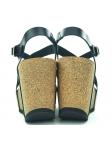 Sandalia YOKONO modelo CORFU-039 color negro, vista talones