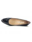 Zapato de salon marca YOKONO modelo WALIS color negro, vista aérea