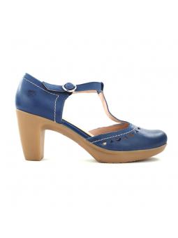 Zapato de la marca YOKONO modleo TILSA color marino, vista lateral exterior