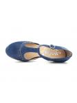 Zapato de la marca YOKONO modleo TILSA color marino, vista aerea