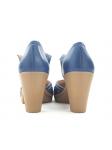 Zapato de la marca YOKONO modleo TILSA color marino, vista de los talones