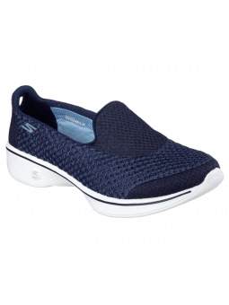 Mocasin deportivo SKECHERS GO WALK4 modelo 14145 color azul marino NVW