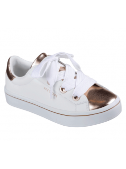 Deportiva casual SKECHERS STREET LOS ANGELES modelo 982 color Blanco-oro WTRG