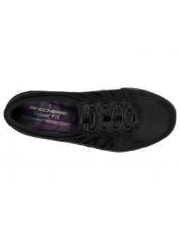 Zapatillas SKECHERS RELAXED FIT modelo 23020 color BLK, vista aérea