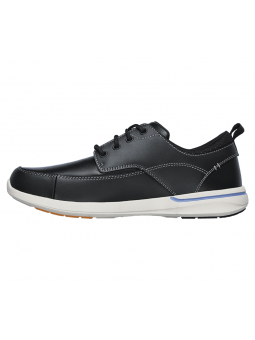 Náutico SKECHERS RELAXED FIT modelo 65727 color BLK, vista lateral interior