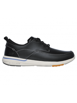 Náutico SKECHERS RELAXED FIT modelo 65727 color BLK, vista lateral exterior