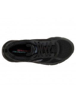 Zapatillas SKECHERS RELAXED FIT 13310 con cuña, color negro BBK, vista aérea