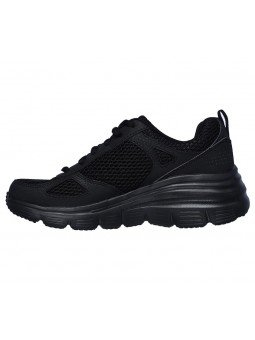 Zapatillas SKECHERS RELAXED FIT 13310 con cuña, color negro BBK, vista lateral exterior
