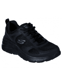 Zapatillas SKECHERS RELAXED FIT 13310 con cuña, color negro BBK