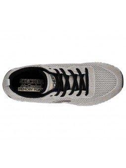 Zapatillas Skechers Originals Sunlite Magic Duste, modelo 897, color taupe Tpgd, con elásticos, vista aerea.